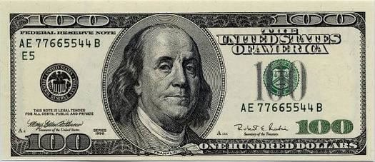 benjamin franklin $100 bill